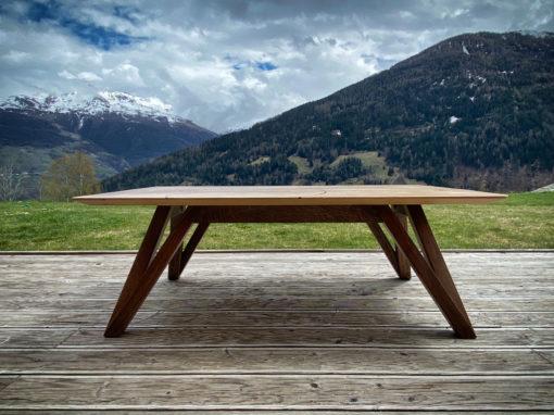 "Table basse en chêne ""upcyclé"""